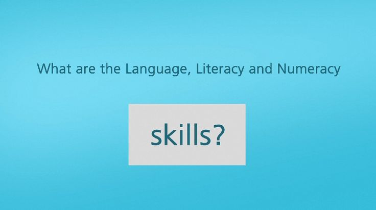 What are Language, Literacy and Numeracy skills