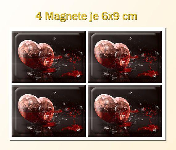 Magnet Herz aus Glas