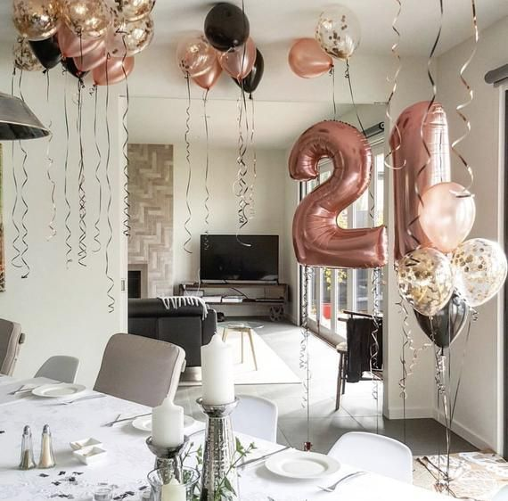 Rose Gold 21st Birthday Decor Set Jumbo 21 Big Number 21st Birthday Party Ideas In 2020 21st Birthday Balloons 21st Birthday Decorations 21st Birthday Party Decor