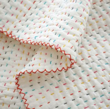 embroidery floss hand stitching tutorial for quilts.