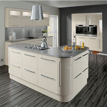 Lumi Cashmere gloss - Buy Quality kitchen doors online from Topdoors.co.uk at best price. The Lumi Cashmere Gloss replacement doors exhibit luxury and elegance. They come in a rich beige color with a brilliant high gloss finish.