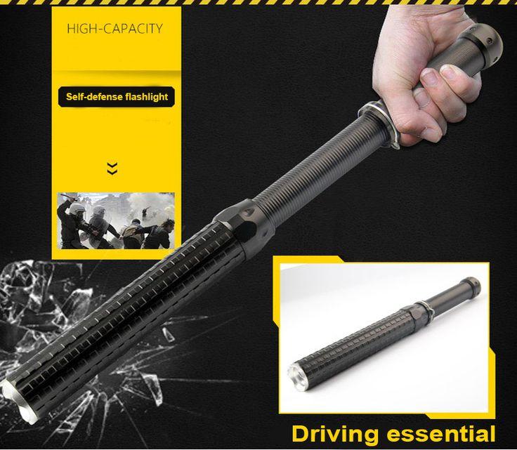 2000 lumen linterna baton cree xml q5 3 modo ajustable 41 cm autodefensa antorcha lanterna luz por 18650/aaa luz de flash