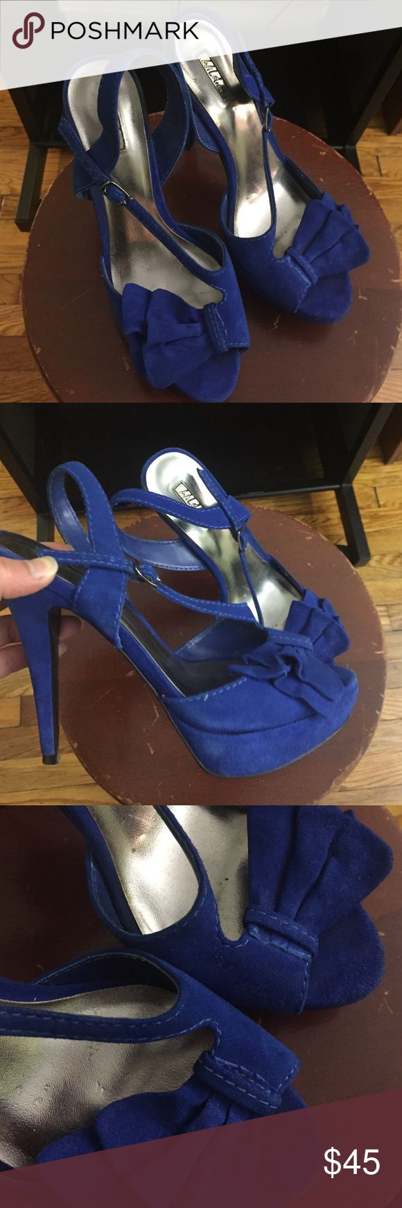 Wild pair electric blue high heels Heels to wear out! Wild Pair Shoes Heels