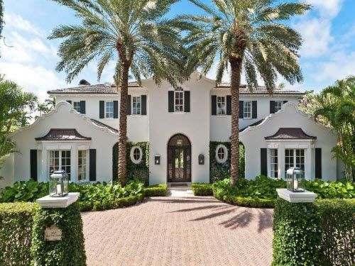 Dutch Colonial Mansion In Palm Beach Florida Estates
