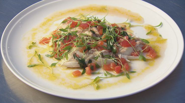 Salt Baked Snapper with Sauce Vierge