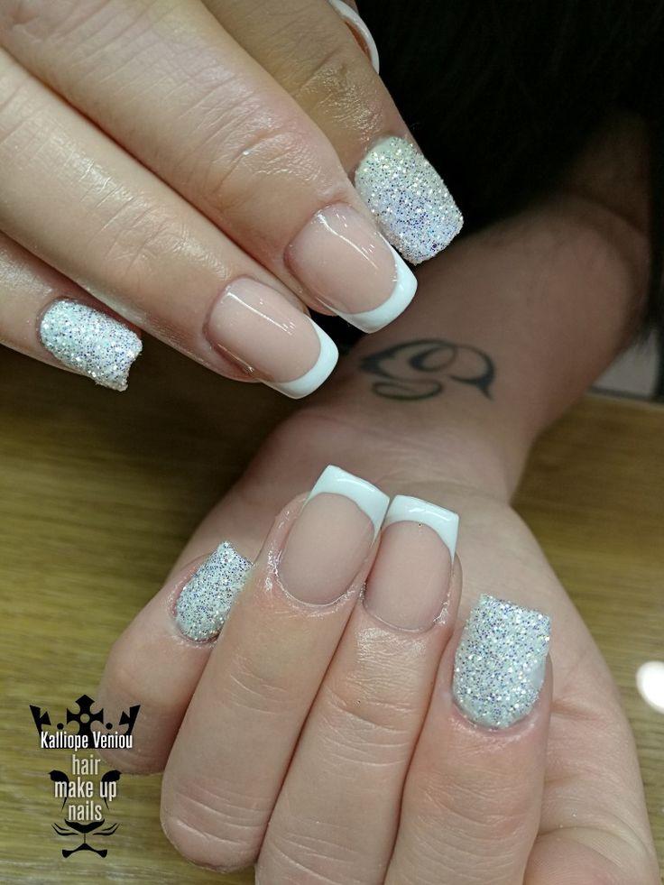 French manicure  #nails #acrylic #frenchmanicure #glitter #classic #beauty #fashion #fashionista #nailaholic #nailsalon #nail2inspire #trusttheexperts #beautymakesyouhappy  www.kalliopeveniou. gr