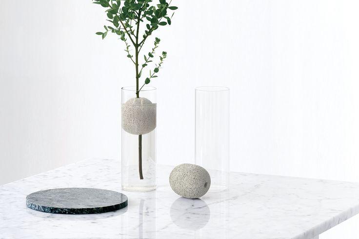 lava single vase pumice stone studio macura