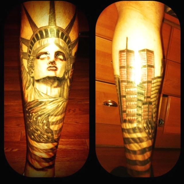 17 best images about inked for ny on pinterest new york for Las vegas skyline tattoo
