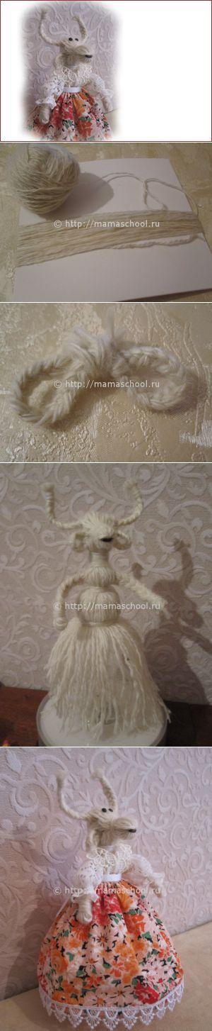 Коза из ниток своими руками