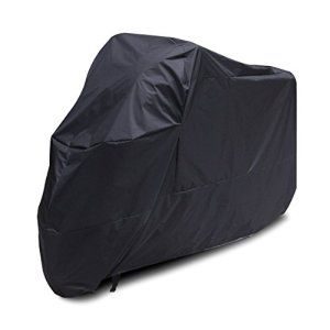 Housse Bache Moto Couvre-Moto velo VTT scooter Taille XL Longeur 245cm protection Noir