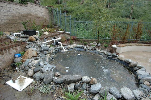 35 best koi pond images on pinterest backyard ponds for Fish pond construction ideas