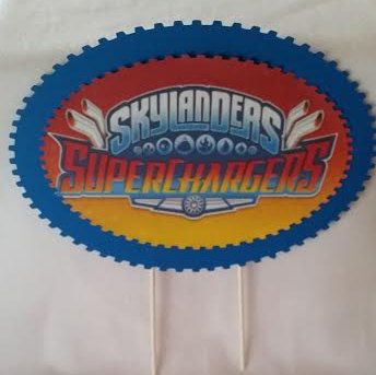 Skylander Superchargers Cake Topper by CBCPartyCollections on Etsy