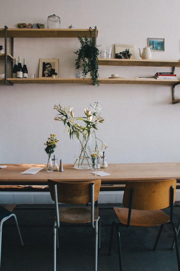table + chairs + diy shelf.