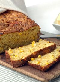 Mealie Bread -  south african sweet baked bread made with sweetcorn