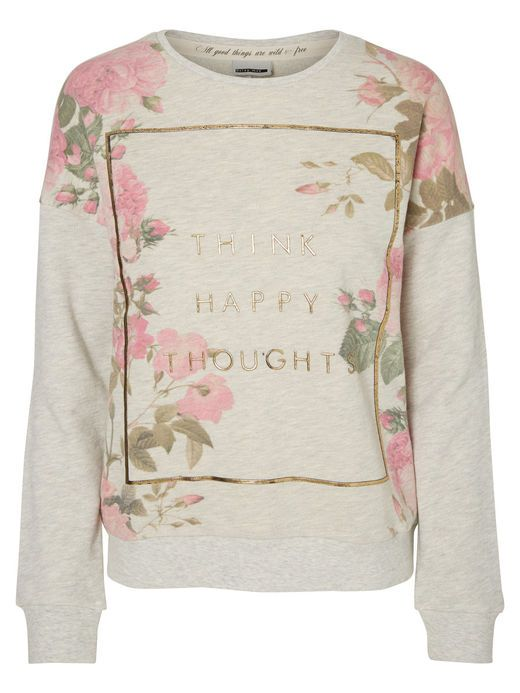 Floral printed sweatshirt from Noisy may