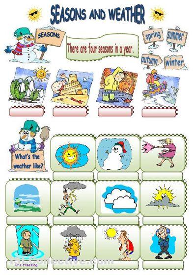 seasons and weather worksheet - Free ESL printable worksheets made by teachers