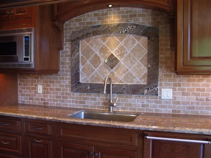 Giallo Ornamental Granite With Backsplash Giallo Granite Cherry Cabinets Pics And Help With