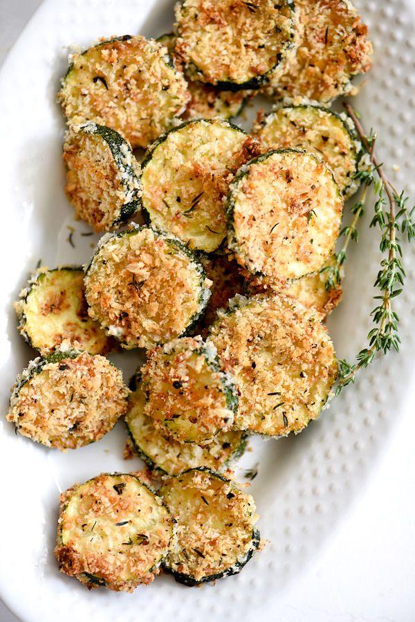 Baked Zucchini Parmesan Crisps | foodiecrush.com