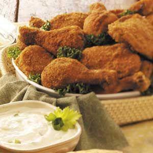 Picnic Chicken with Yogurt Dip Recipe | Taste of Home