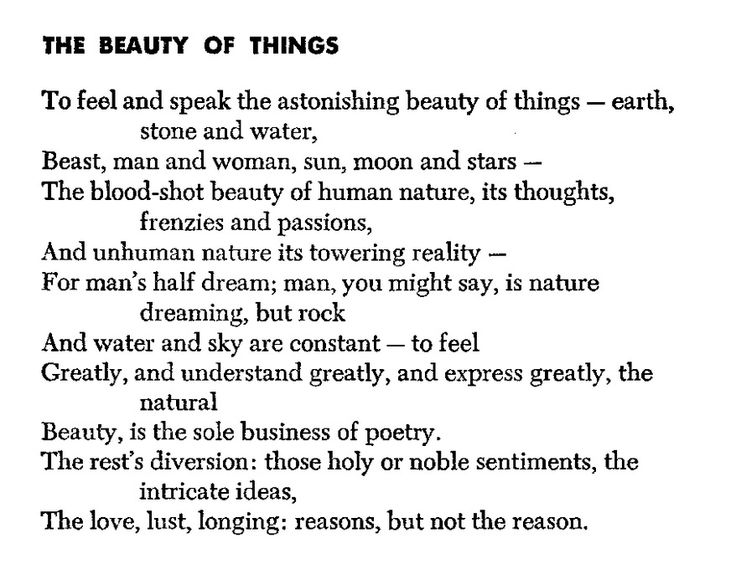 | robinson jeffers | the beauty of things |. Oh, this is beautiful indeed