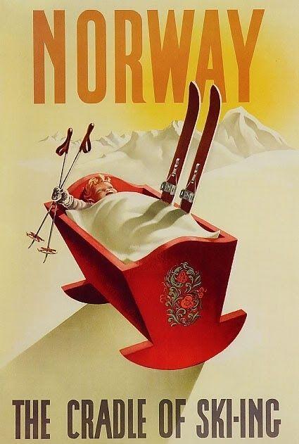 1955. Hilarant. | Gorgeous Vintage Travel Posters....reépinglé par Maurie Daboux ❥•*`*•❥
