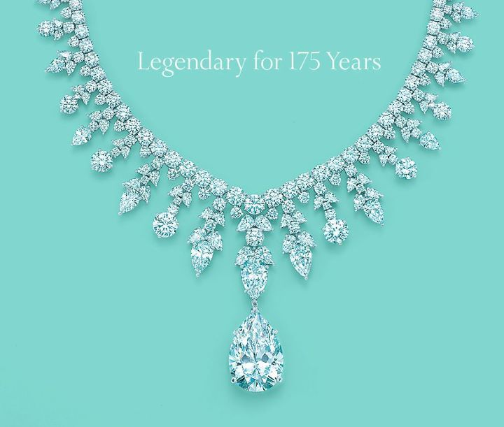 Tiffany's Gorgeous diamond necklace. In a class all by it's self <3.