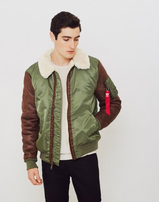 Alpha Industries B3-M Faux Leather Flight Jacket Green £219.90 | Shop Now at TheIdleMan.com | #StyleMadeEasy