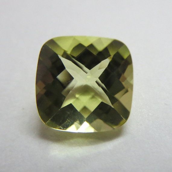 8 mm  9 mm  10 mm Natural genuine  lemon quartz square by GEMSDEAL, $7.99