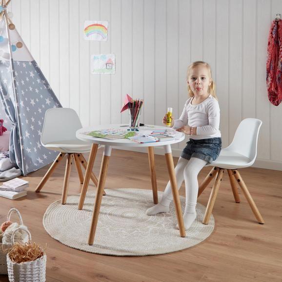 Kindertisch In Weiss Naturfarben Online Kaufen Momax