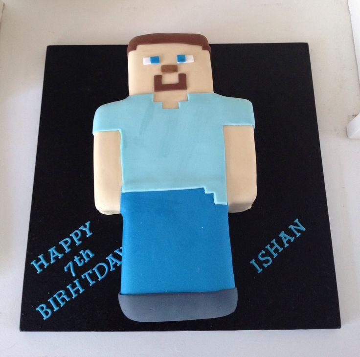 Steve Minecraft Birthday Cake by Boutique Bakehouse www.boutiquebakehouse.co.uk