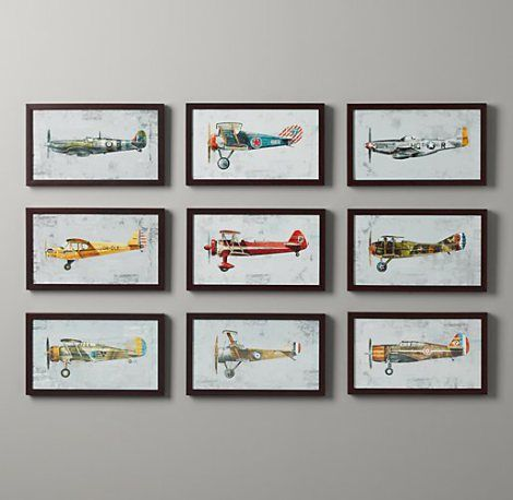 Free vintage airplane printables - for nursery