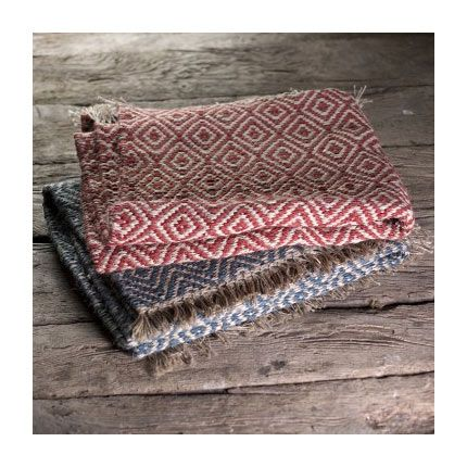 Hand-woven Jute Area Rug - Red