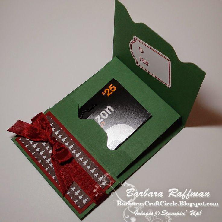 Barbara's Craft Circle: Gift Card Holder Using Envelope Punch Board