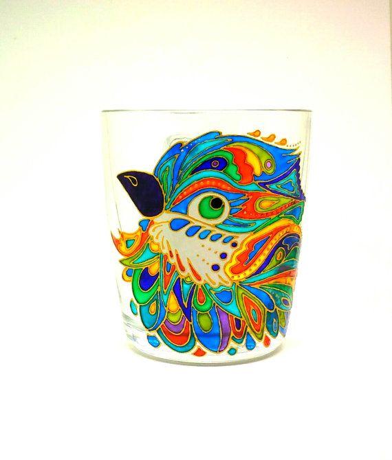 Mug Hand Painted Gift Coffee Tea 71 от ArtGlassCo на Etsy