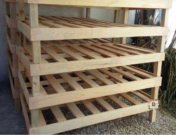 M s de 1000 ideas sobre camas rusticas de madera en - Bases de cama de madera ...