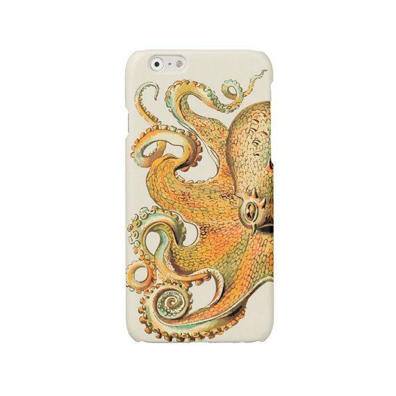 iPhone case orange octopus iPhone 7 iPhone 6 case iPhone 6