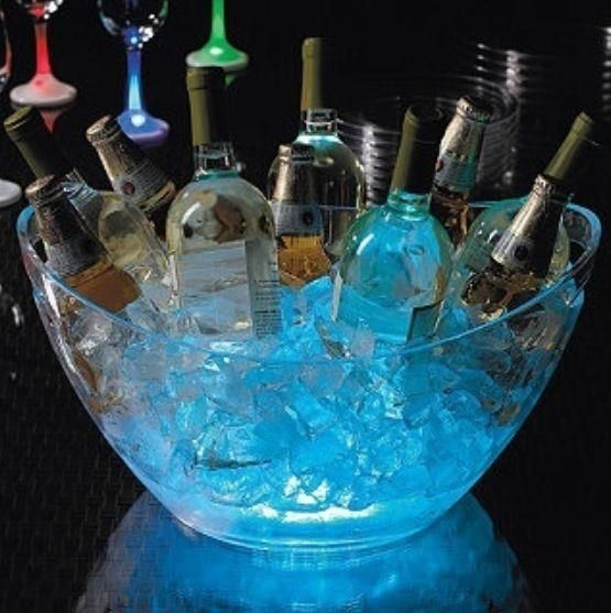 For an outdoor party put glow sticks amongst the ice. I wonder if we could do this for engagement party? @katlynneeley @Shannon Bellanca Wells