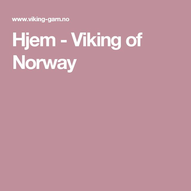 Hjem - Viking of Norway