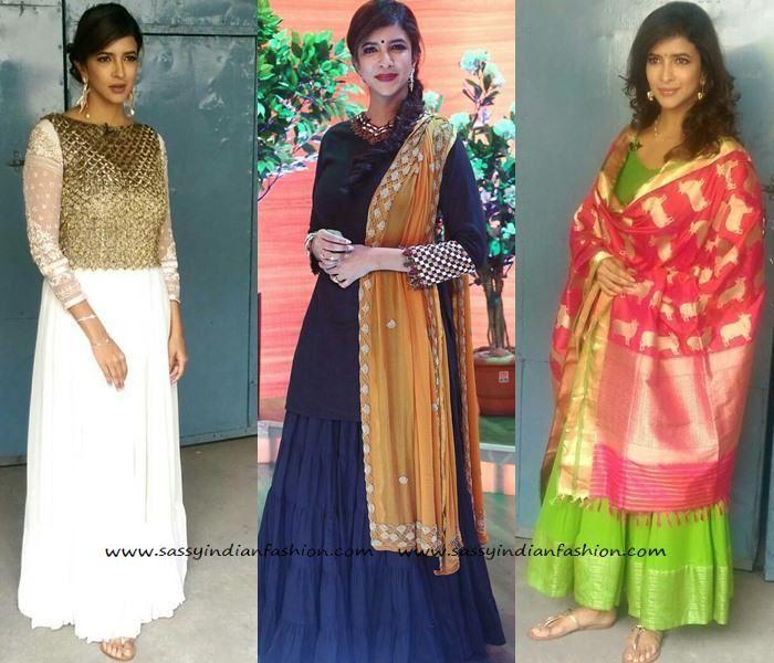 Lakshmi Manchu Outfits at Memu Saitham Show, Lakshmi Manju Dresses at Memu…