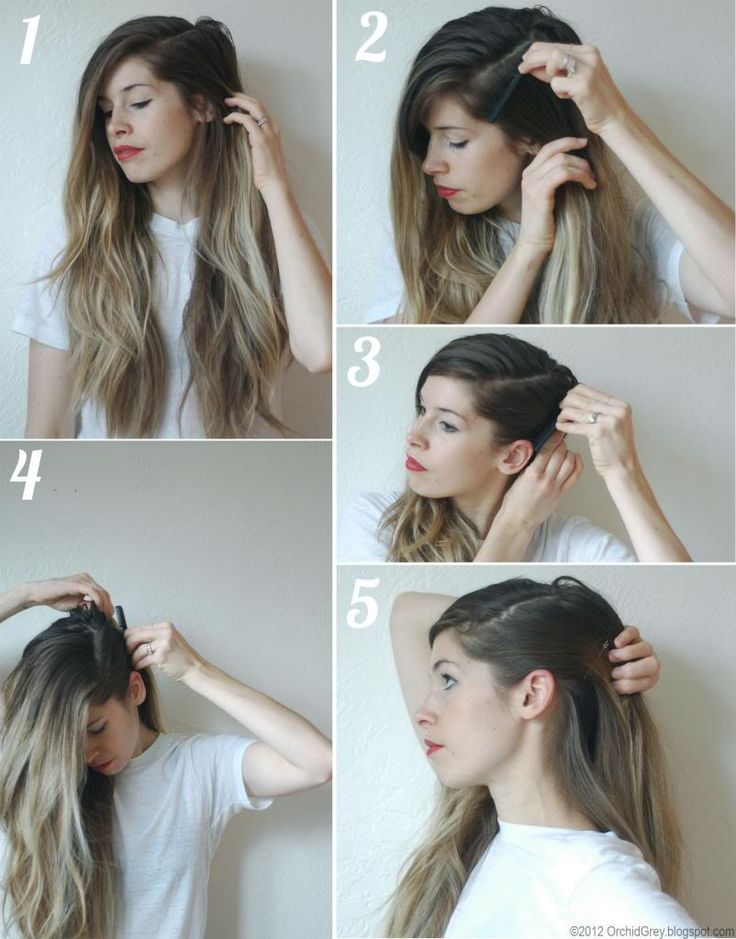 1.  As always, dirty hair works best for this. Decide of the placement of your part- a deep side part works best.  2.  Using a fine-to...