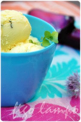 figo lampo: Gelado de queijo fresco e poejo