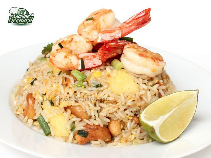 La Cuisine de Bernard: Le Riz Frit aux Crevettes, Ananas et Noix de Cajou