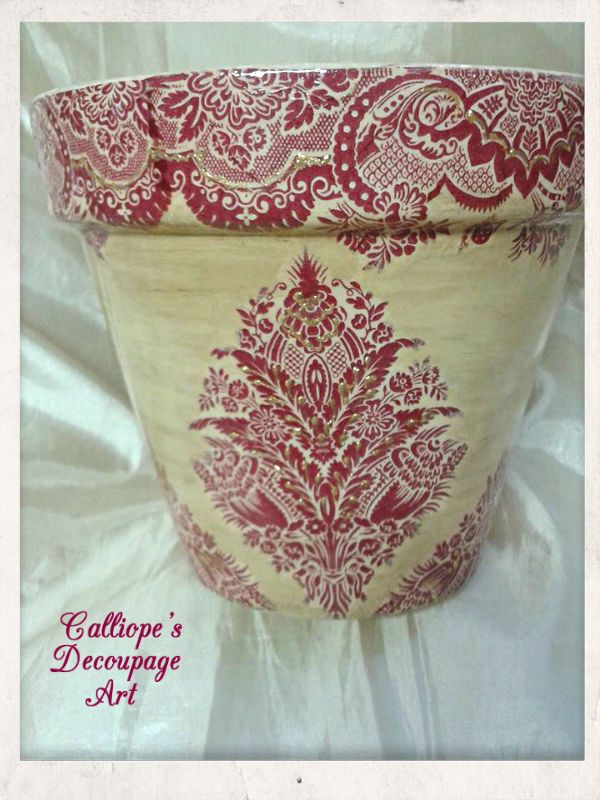 Γλάστρες | Calliope's Decoupage Art