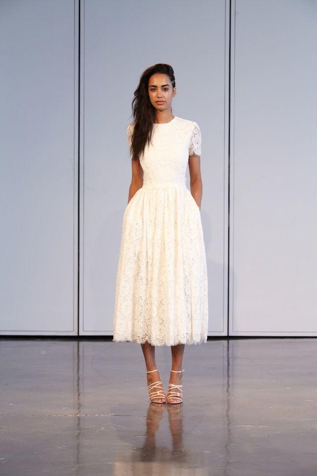 17 best images about tea length wedding dresses on for Midi length wedding dress