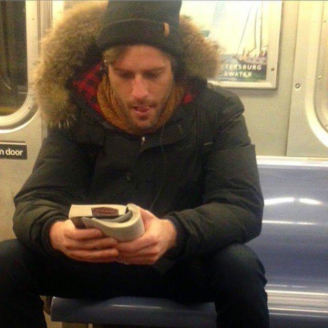 on a train: