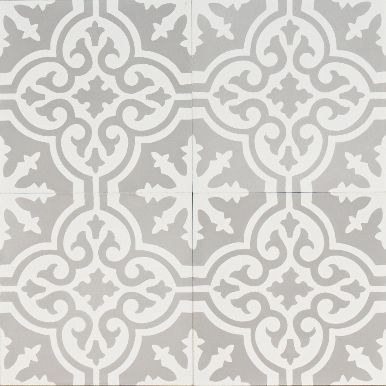 grey Moroccan bazaar reproduction tile | jatana interiors