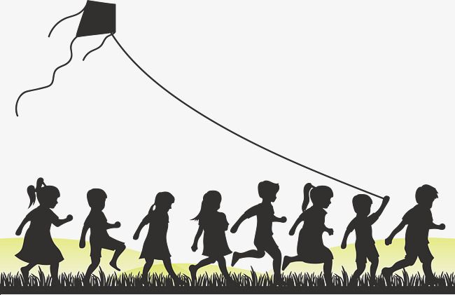 Children Who Fly Kites Black Silhouette Fly A Kite Png Transparent Clipart Image And Psd File For Free Download Kite Clip Art Clipart Images
