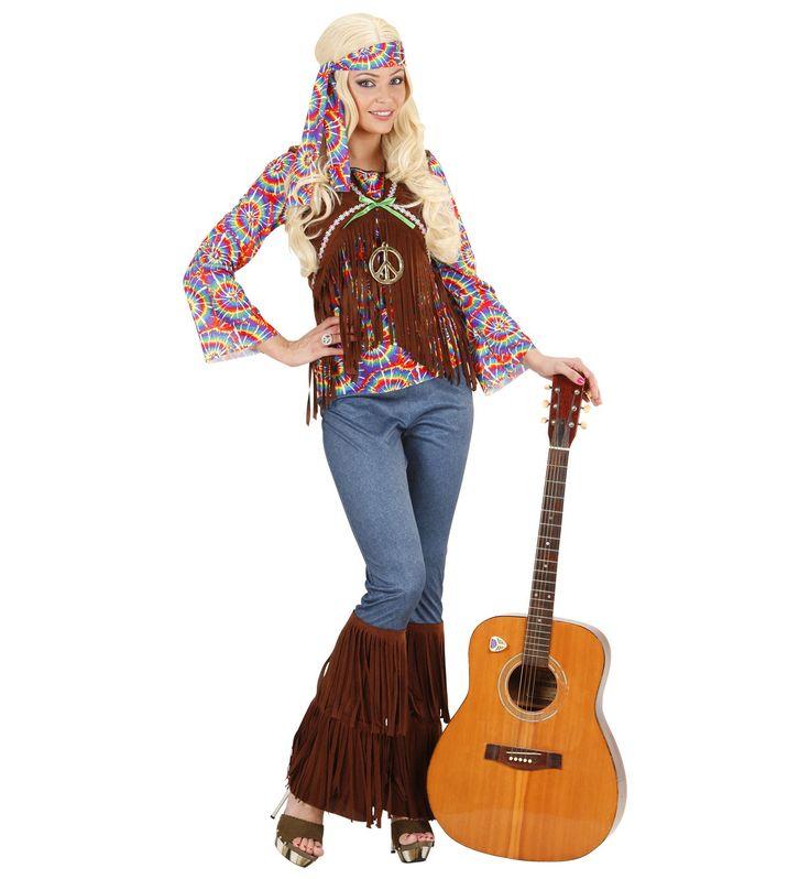 Hippie Vrouw Psychedelisch Kostuum => Feestkleding 365!