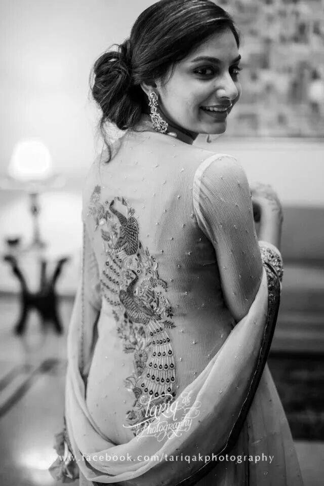 Samia Ahmed - peacock motif