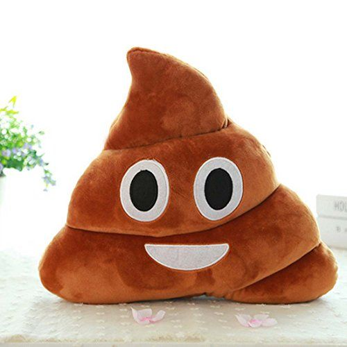 LKE Mini Stuffed Pillow Cushion Emoji Poop Shaped Smiley Face Doll Toy * Be sure to check out this awesome product. (Note:Amazon affiliate link)